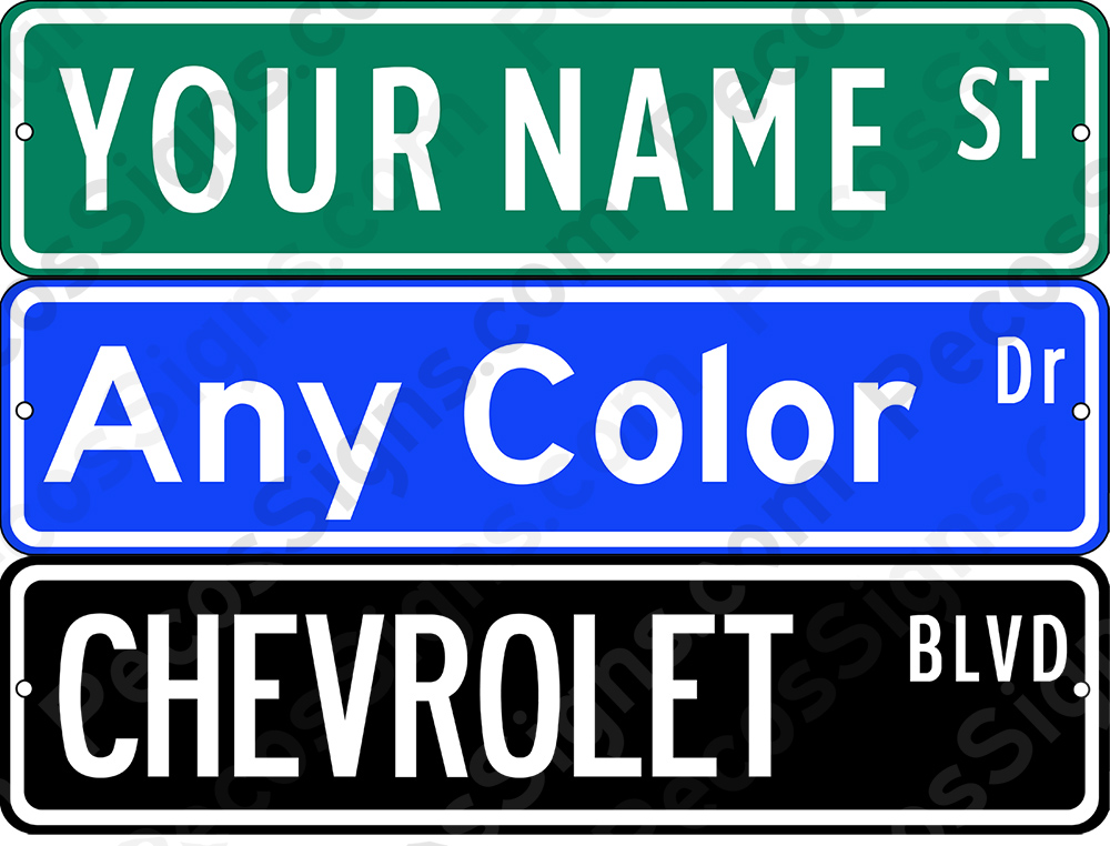 "Street Sign - 18""x4"" Custom Made Aluminum Sign"