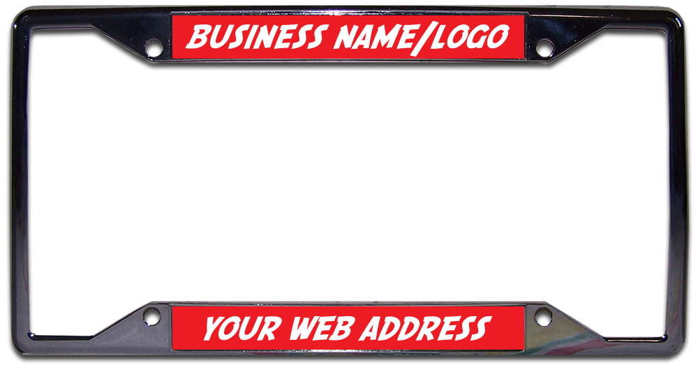 License Plate Frame Custom Made w/Your Co Name and/or Logo