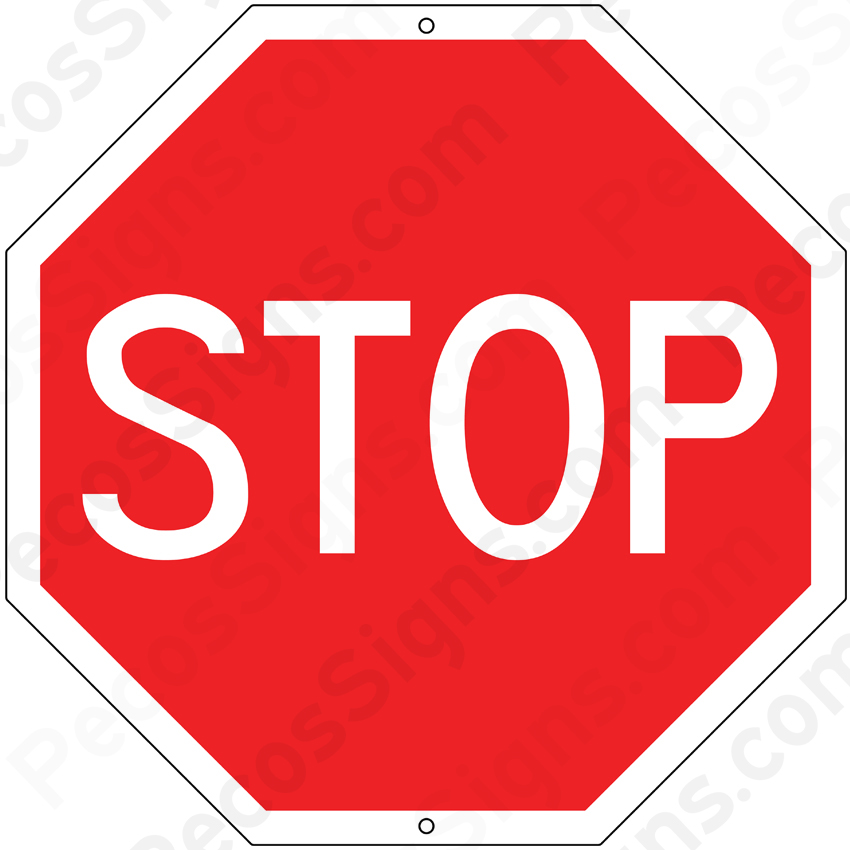 STOP Sign 12x12 Aluminum Novelty Stop Sign