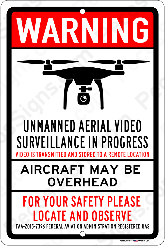 UNMANNED AERIAL SURVEILLANCE on 12 wide x 18 high