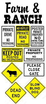 Farm & Ranch Signs